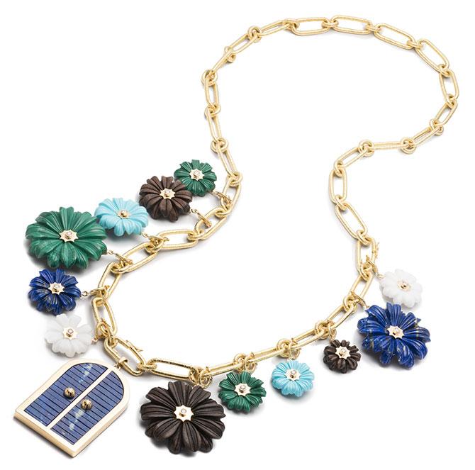 Brent Neale multidoor flower charm necklace