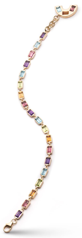Brent Neale rainbow tennis bracelet