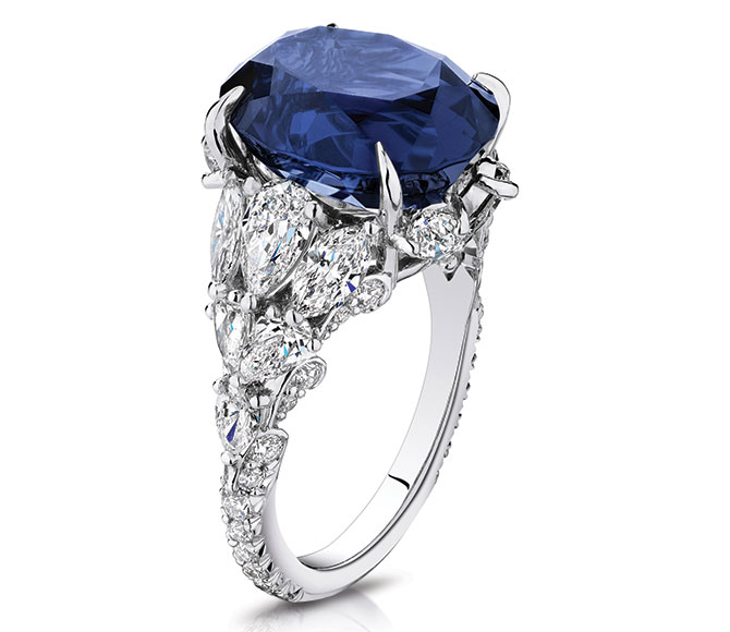 Brilliant Earth ceylon sapphire ring