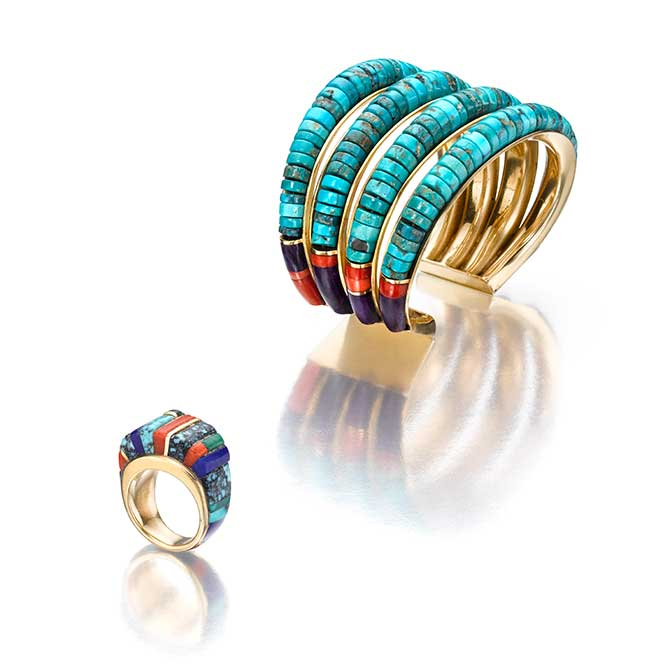Chales Loloma bracelet and ring