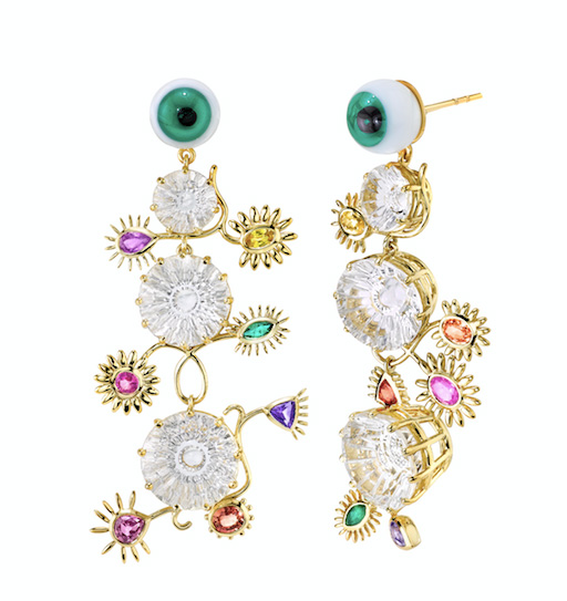 Daniela Villegas eyeball earrings