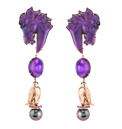 Daniela Villegas horse earrings