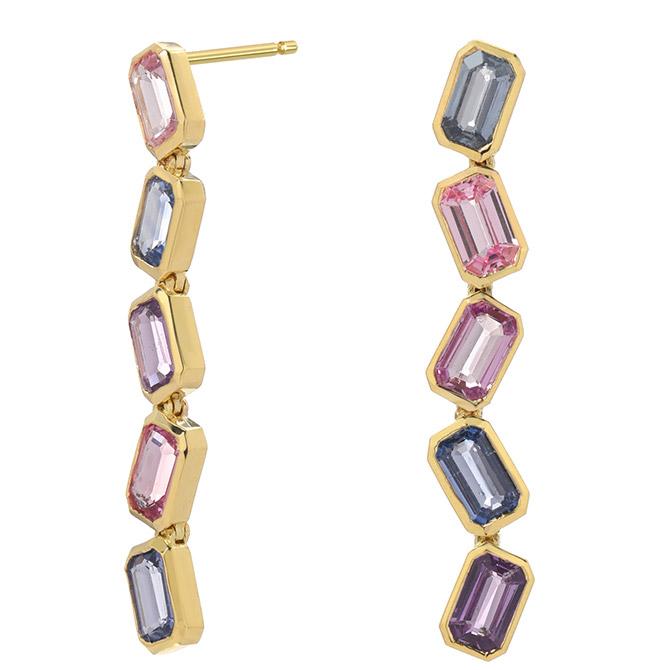 Era Jewelry Brick Brigade drop earrings