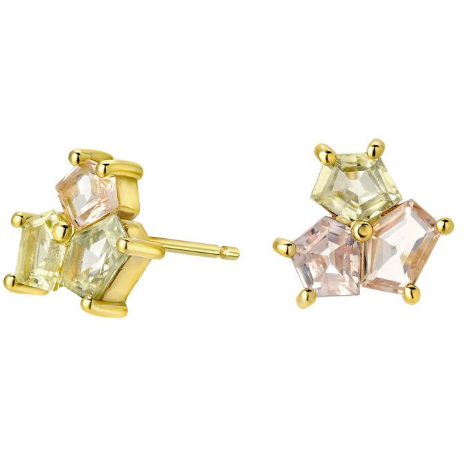 Era Jewelry Mosaic trio stud earrings