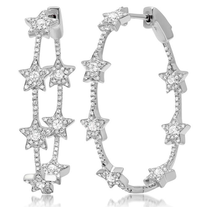 Shy Creation star hoop earrings