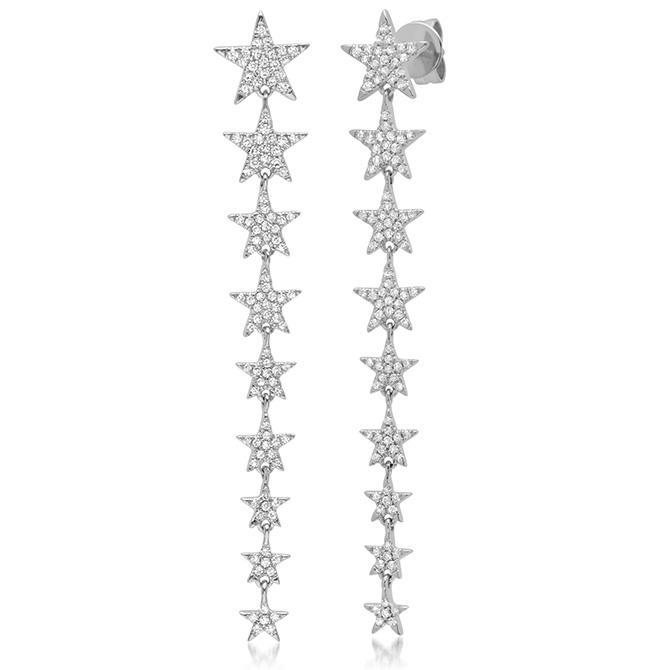 Shy Creation ascending star earrings