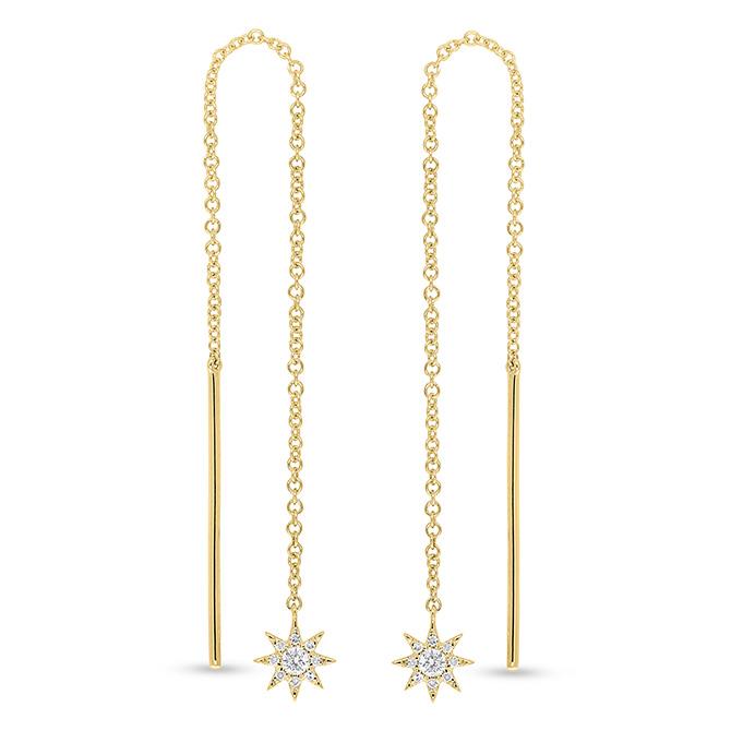 Shy Creation star threader earrings