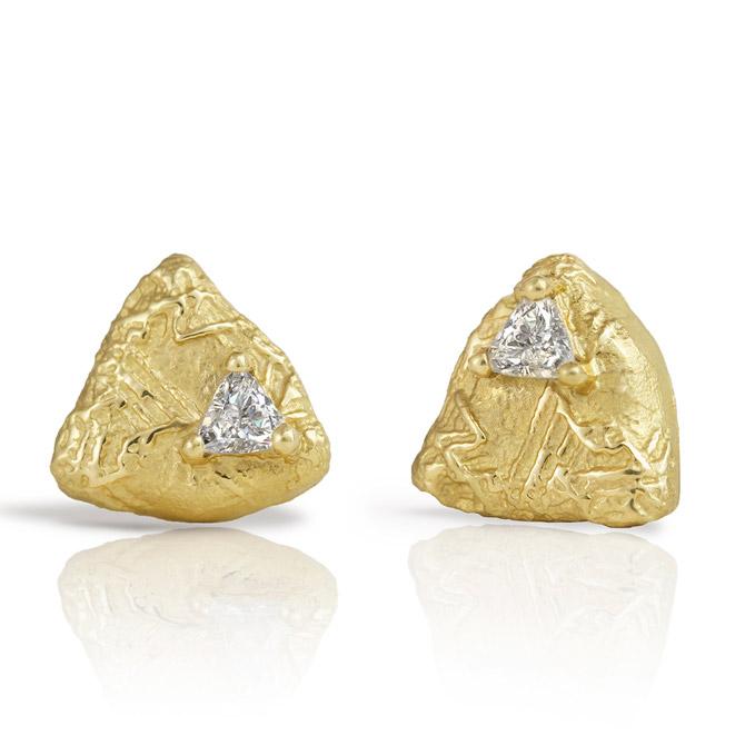 Sarah Graham Trigon stud earrings