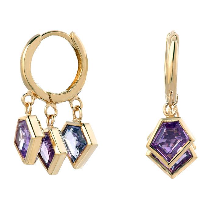 Era Mosaic hoop earrings