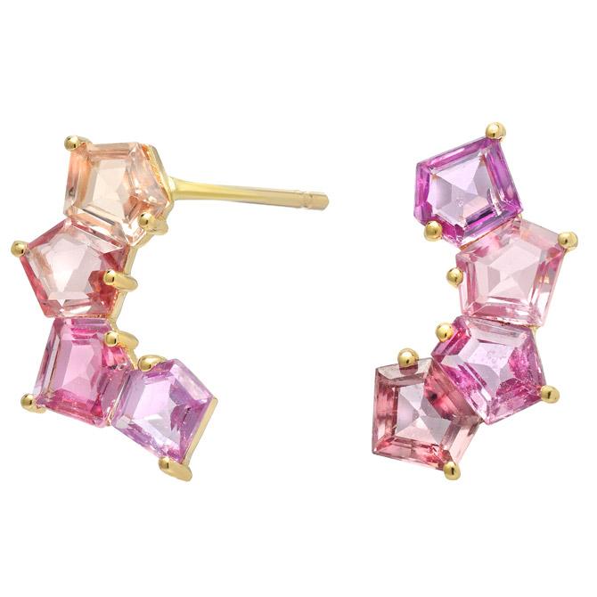Era Jewelry sapphire cluster wrap earrings
