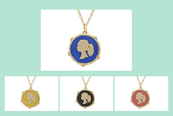 Elisabeth Bell silhouette necklaces