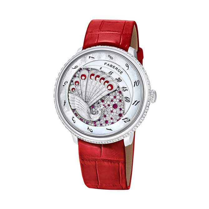 Faberge Lady Compliquee Peacock Ruby watch
