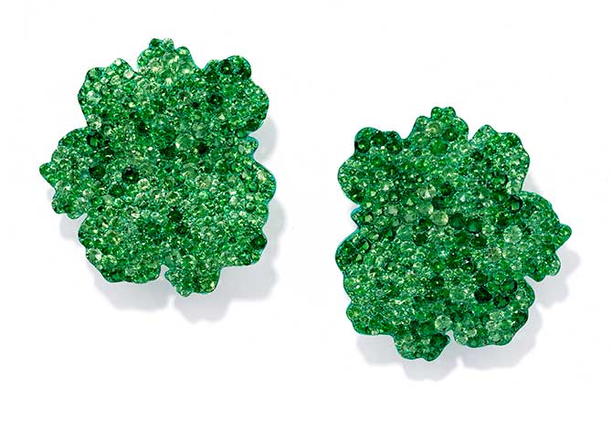 Glenn Spiro tsavorite titanium earrings