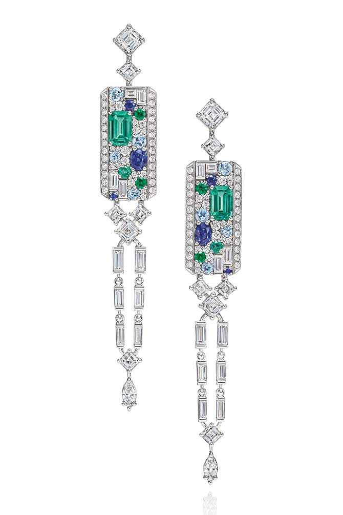 Harry Winston Central Park Mosaic Earrings