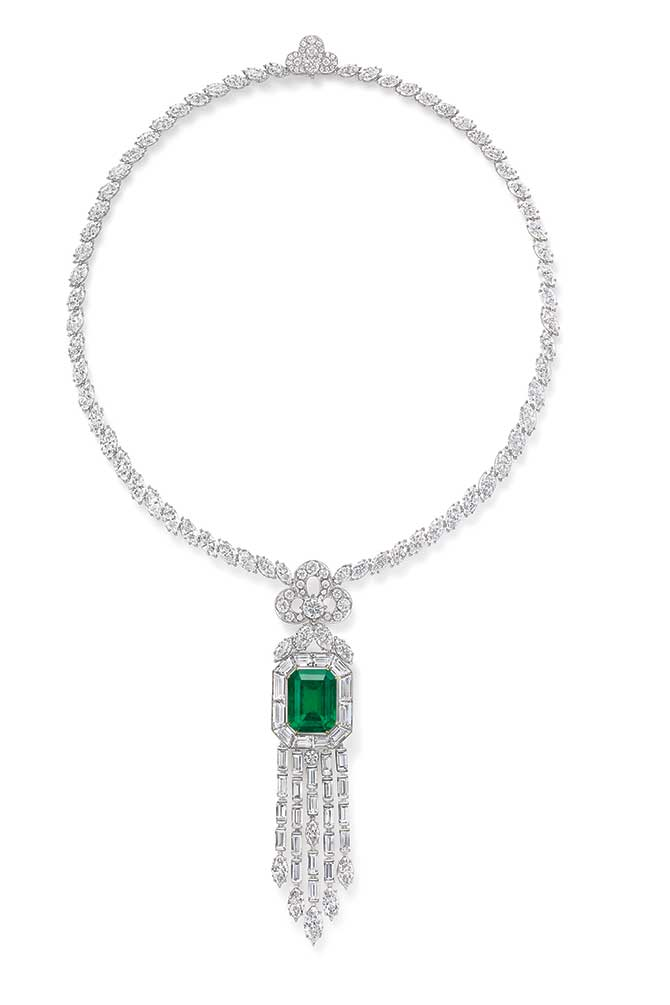 Harry Winston Emerald Vitrine necklace