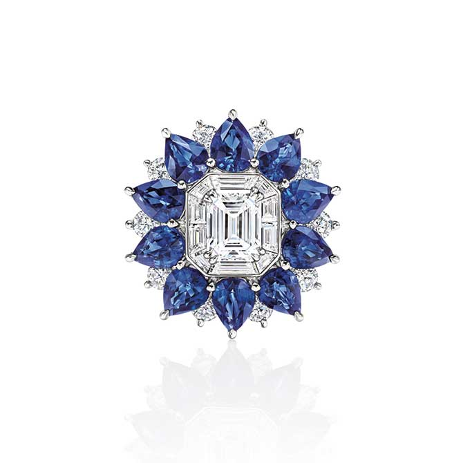 Harry Winston Marble Marquetry ring