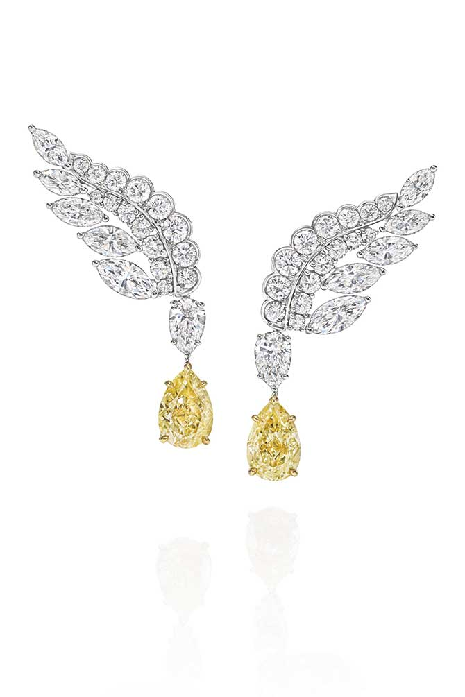 Harry Winston eagle earrings