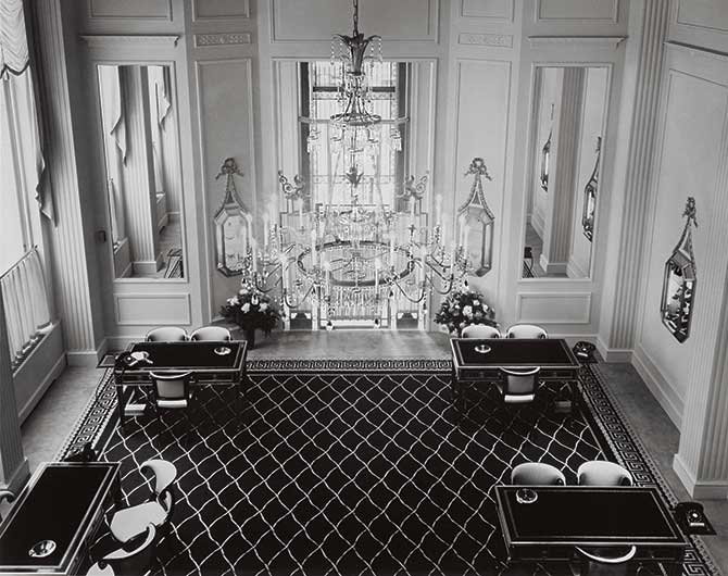Harry Winston salon chandelier