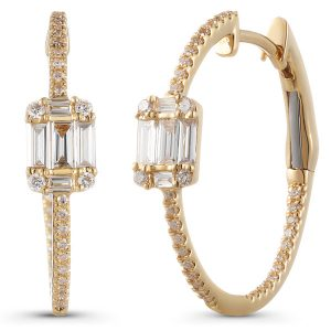 Majolie illusion baguette hoop earrings