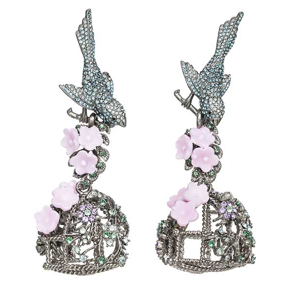 Ines di Santo Romantic Birdcage earrings