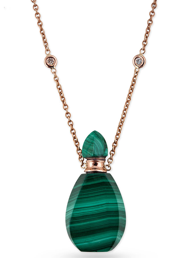 Jacquie Aiche malachite potion bottle