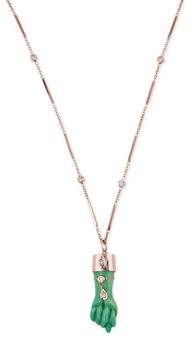 Jacquie Aiche resin figa necklace