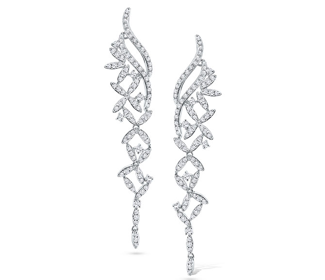 KC Designs abstract floral diamond earrings
