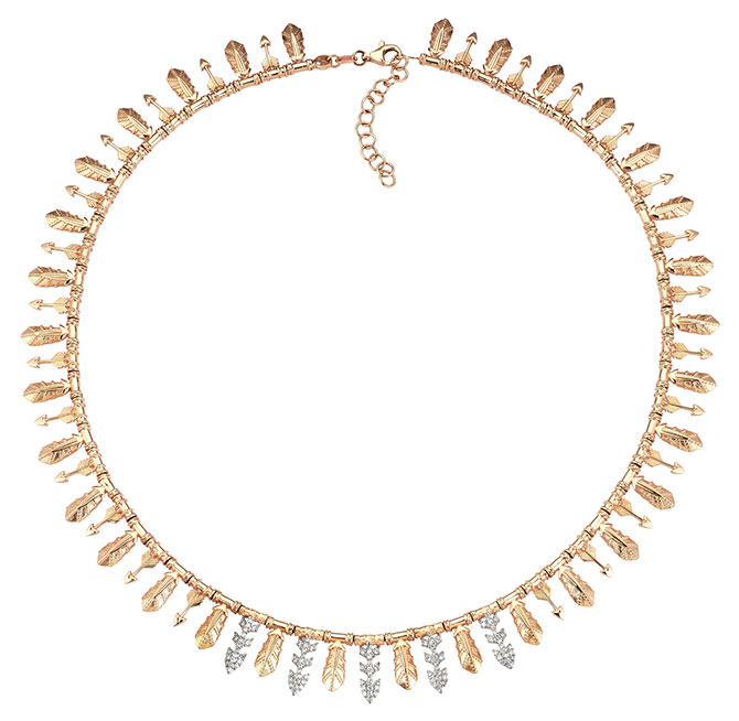 Kismet by Milka gold diamond necklace
