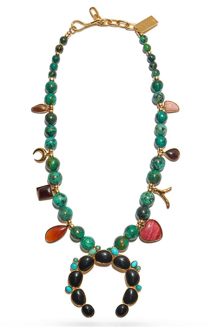 Lizzie Fortunato squash blossom necklace