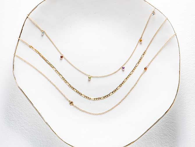 Love Los Angeles chain necklaces