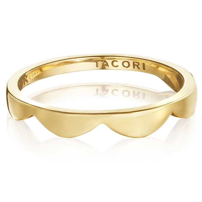 Love Los Angeles crescent stacking ring