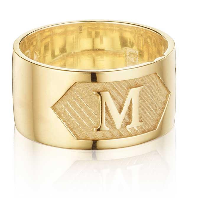 Love Los Angeles monogram ring