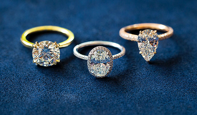 Marisa Perry diamond rings