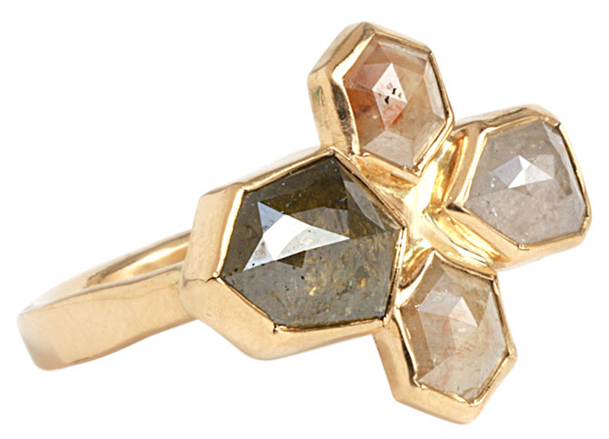 Melissa Joy Manning rough diamond geometric ring