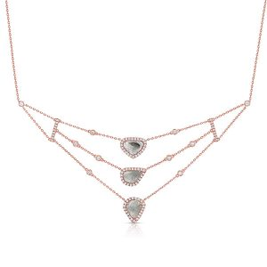 Kattan diamond layered necklace