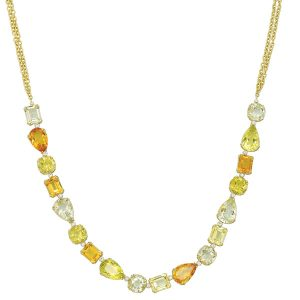 Herco colored gemstone necklace