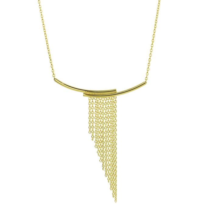 Sechic gold fringe necklace