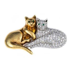Oscar Heyman cat brooch