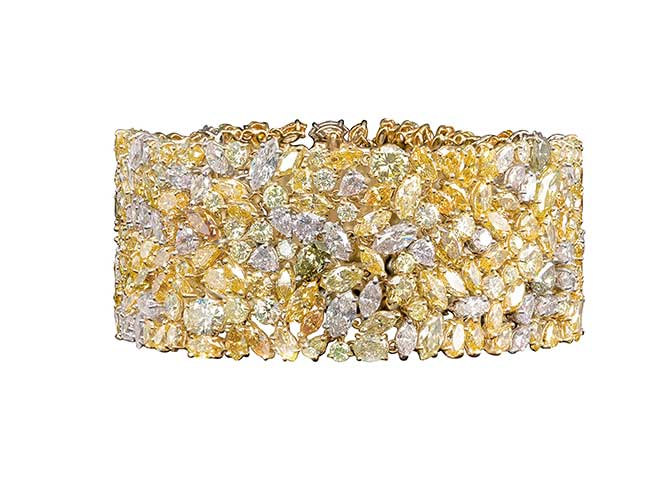 Oscar Heyman fancy shape diamond bracelet