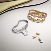 pandora reflexions bracelet rose gold charms