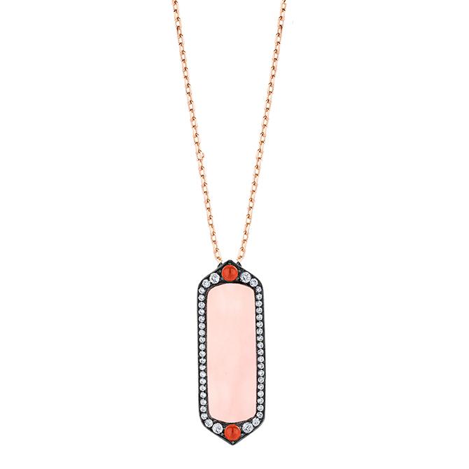 Joelle pink opal pendant