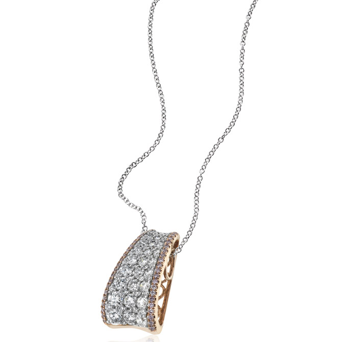 Simon G diamond tag pendant