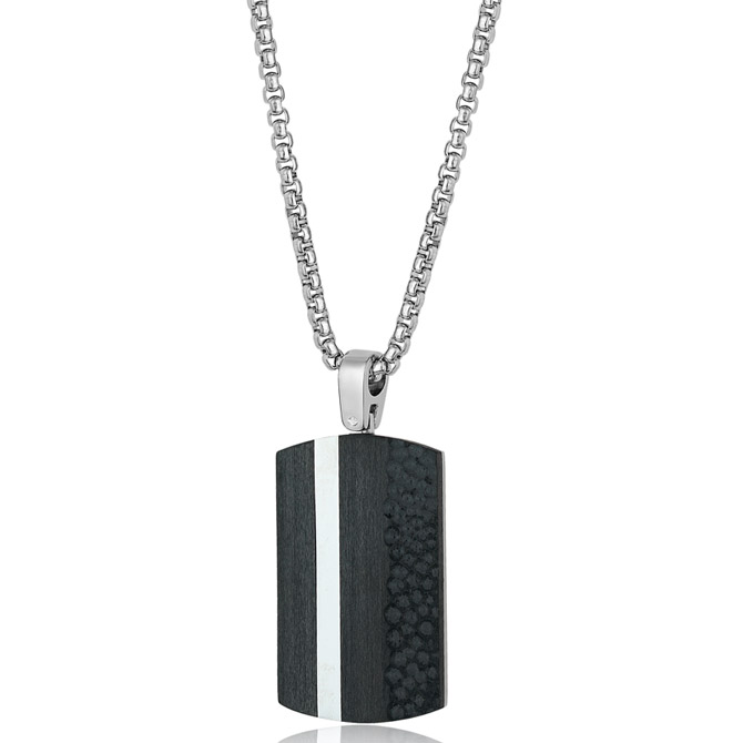 Italgem Steel dog tag pendant