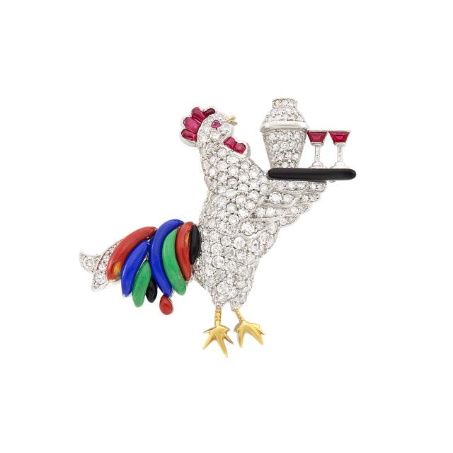 Raymond Yard rooster pin