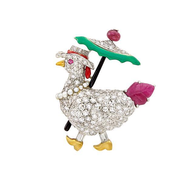 Raymond Yard chicken pin