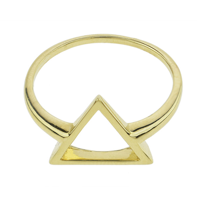 Sechic gold triangle ring