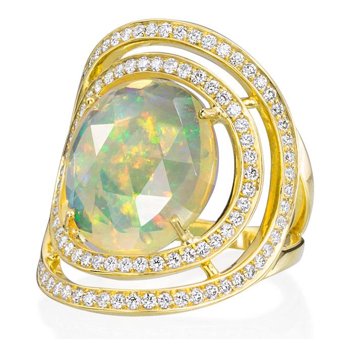 Lauren K Lioness opal ring