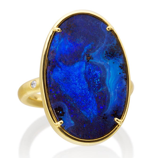 Lauren K gold opal ring