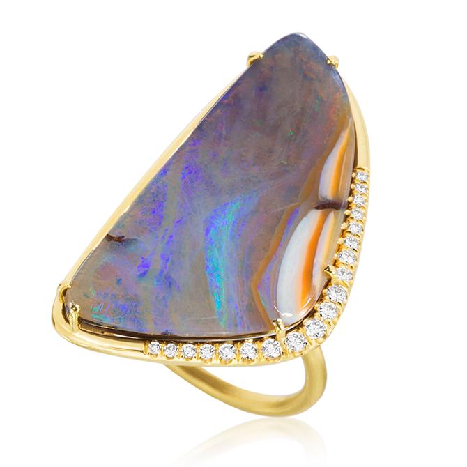 Lauren K boulder opal ring