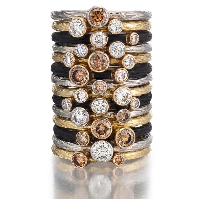 Sarah Graham Pebble stacking rings